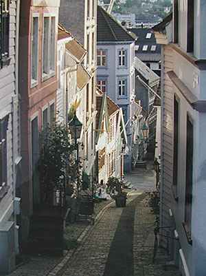 Bergen Norway has big attractions but also lovely quiet streets to explore