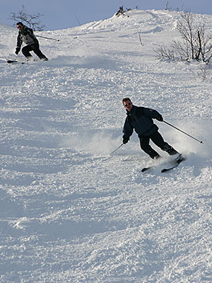 Off-piste skiing in Sirdal - less than 2 hours from Stavanger Norway